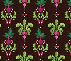 Getting to the Root of It All fabric by hootenannit on Spoonflower - custom fabric