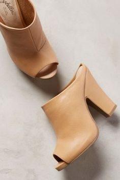 Shop unique high heels from Anthropologie for your essential pumps, kitten heels and more. Peep Toe Mules, Heeled Mules, Cute Shoes, Me Too Shoes, Open Boot, Crazy Shoes, Beautiful Shoes, Auburn, Shoe Boots