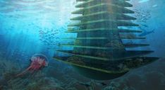 オランダ建築企業が構想中の水上自然保護区『Sea Tree』が未来的   IDEA HACK