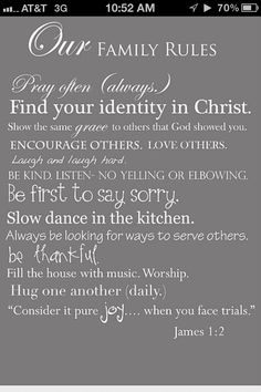 This needs to be in homes everywhere!! Wonderful rules to follow!! :)