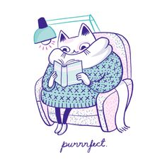 Cold winter, warm sweater and a good book, what could be better? Purrrfect collection was inspired by two