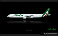 https://flic.kr/p/nYHTs6 | Alitalia Livery concept | Alitalia / Airbus A321 / Livery concept