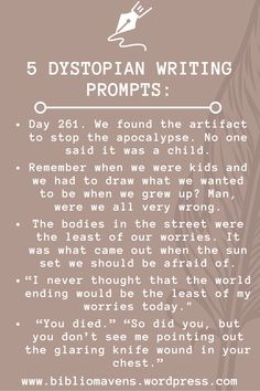 5 Dystopian Post-Apocalyptic Writing Prompts for Inspiration
