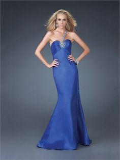 Flare Beaded One-shoulder Empire Open Back Royalblue Prom Dress PD1682 www.simpledresses.co.uk £98.0000