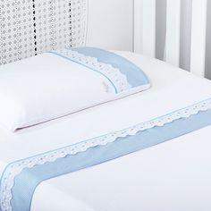 Jogo de Lençol Berço Malha Xadrez Azul - 3 Peças Baby Girl Crib Bedding, Baby Bedding Sets, Luxury Bedding Sets, Baby Sheets, Cot Sheets, Bed Cover Sets, Bed Covers, Luxury Bedspreads, Baby Quilts