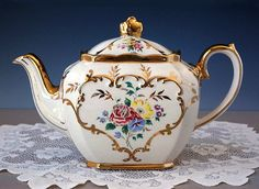 RESERVED for CYNTHIA...Sadler Cube Teapot by TeacupsAndOldLace