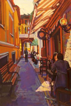 Bellagio Way  36 x 24 Oil on Linen