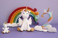 Baby 1st Birthday, Unicorn Birthday Parties, Unicorn Party, Unicorn Decor, Unicorn Cake Design, Unicorn Cake Topper, Unicorn Cakes, Fondant Rainbow, Foundant
