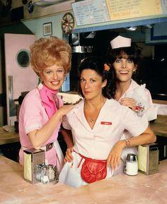 "Polly Holliday as 'Florence Jean ""Flo"" Castleberry', Linda Lavin as 'Alice Hyatt' & Beth Howland as 'Vera Louise Gorman' in Alice (1976-85, CBS)"
