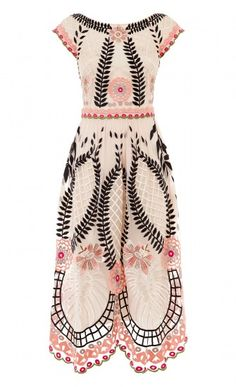 Midi Belle Dress - An iconic Temperley style reimagined for the Havana-inspired Summer collection, the Midi Belle Dress embodies a joyful, ultra-feminine mood. Sheer with stunning tropical embroidery, this cocktail dress features a bateau nec Designer Evening Dresses, Evening Gowns, Beautiful Outfits, Cute Outfits, Look Fashion, Womens Fashion, Party Mode, Belle Dress, Inspiration Mode