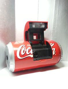 1998 Coca-Cola Christmas Santa Claus Can 35mm Film Camera Coke Collectible by mycoffeeboy