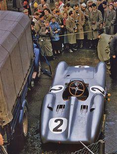 """automotiveporn: """" 1954 British GP, Karl Kling's Mercedes Benz """""""