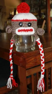 Sock Monkey Hat DIY for my baby boy!  Love!
