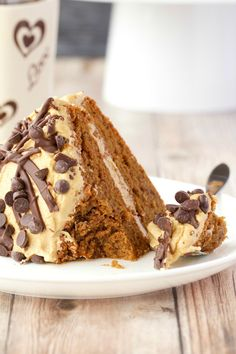 Insanely delicious vegan coffee cake with kahlua frosting. This isn't just a cake to eat with your coffee, this is fabulously decadent coffee flavored cake!