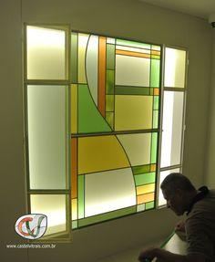 Vitral residencial.   www.castelvitrais.com.br