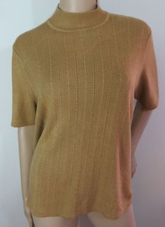 """KORET"" TAN ZIPPER BACK KNIT BLOUSE SWEATER - PLEASE SEE ALL PICTURES #KORET #KnitTop"