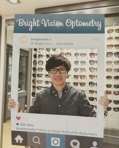 e832ed1ea0 A cool idea for instagram and facebook. People who put their picture up get   20 off their next pair of glasses