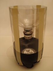 Photo of the fully assembled stink bug trap.