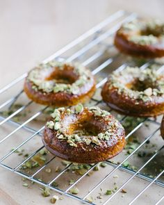 Pistachio Honey Doughnuts {Gluten-Free} by @A Couple Cooks