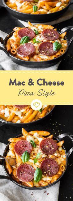 Pasta oder doch lieber Pizza? Wie gut, dass du dich dank diesem Rezept nicht entscheiden musst. Hier kommt zusammen, was zusammen passt.