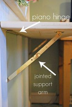 would be great for a laundry folding station Cookie Crumbs Sawdust hinged countertop Laundry Folding Station, Laundry Table, Laundry Room Folding Table, Laundry Room Countertop, Laundry Room Doors, Folding Laundry, Laundry Station, Ironing Station, Sewing Station