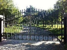 Hand Made Victorian Style Heavy Iron Driveway Gates DG67 | eBay