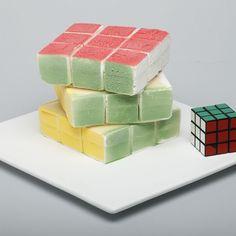 rubick cube ice cream @ Restaurant Santa Elisabetta