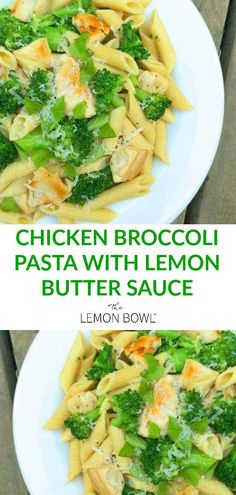 pasta recipes Whip up my Chicken Broccoli Pasta with Lemon Butter Sauce in a flash! This pasta recipe is super simple, yet full of delicious flavor! Healthy Pasta Recipes, Healthy Pastas, Chicken Recipes, Simple Pasta Recipes, Vegetable Pasta Recipes, Fruit Recipes, Healthy Chicken, Easy Recipes, Recipies