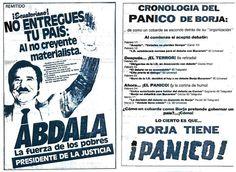 Propaganda política contra Borja por Bucaram (Elecciones presidenciales Ecuador 1988)