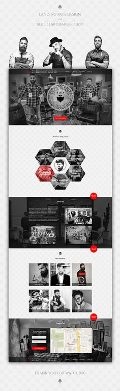 Landing Page for Barber Shop on Behance