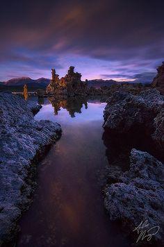 Sunset in Mono Lake, California.