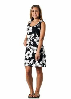 Alki'i Missy Hibiscus Tank Top Summer Beach Sun Dress - OahuPrint