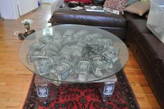 Pretty cool jack daniels table !!