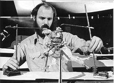 """Phil Tippett working on animating the tauntaun that appeared in """"Star Wars Episode V: The Empire Strikes Back"""" Star Wars Pictures, Star Wars Images, Phil Tippet, Star Wars Tauntaun, Star Wars History, The Empire Strikes Back, Star Wars Episodes, Stop Motion, Behind The Scenes"""
