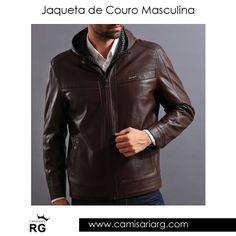Jaqueta de Couro Masculina. Mais de 35 modelos em Promoção! COMPRE AGORA www.camisariarg.com