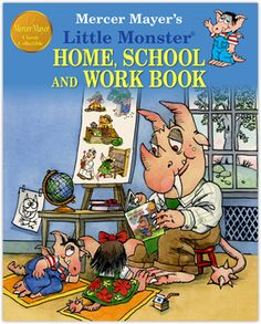 #Little Monster Home, School and Work Book by #Mercer Mayer. Three popular stories in one book.