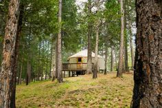 Yosemite Lakes Hillside Yurt 4 Groveland (California) Featuring air conditioning, Yosemite Lakes 4 is set in Harden Flat, 36 km from Mariposa. Sonora is 43 km away.  The accommodation features a flat-screen TV with cable channels. Some units have a dining area and/or patio.
