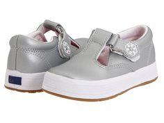 Keds Kids Daphne T-Strap Silver (Infant/Toddler)