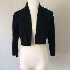Calvin Klein Black cotton Shrug Worn only twice. Black cotton shrug. Calvin Klein Sweaters Shrugs & Ponchos