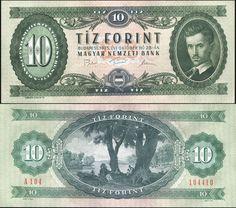 Hungary. 10 forint. 1975 (Unc) Banknote Cat# P.168e