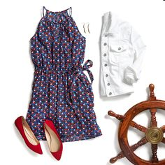 Be the belle of the barbecue or boating trip in this adorable sailboat-print dress. What better way to ring in summertime than with a festive, sea-inspired pattern? Liven up your closet with bright sundresses picked just for you by your Stitch Fix Stylist!