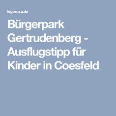 Bürgerpark Gertrudenberg - Ausflugstipp für Kinder in Coesfeld