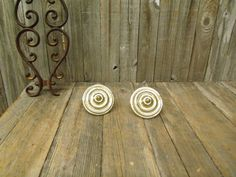 2 Circular Curtain Tie Back Holders Knobs by TheRustyChicken, $14.95