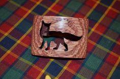 Boy Scout Wood Badge Fox Neckerchief Slide by CrookshankCreations