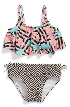 Main Image - Sol Swim Two-Piece Swimsuit (Baby Girls)