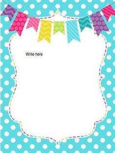 As requested, matching paper to the Freebie Labels I posted last month! Enjoy some cute stationary for those Back to School Letters! Stationary School, Cute Stationary, Borders For Paper, Borders And Frames, Preschool Crafts, Crafts For Kids, Binder Covers Free, Wedding Invitation Background, Polka Dot Theme