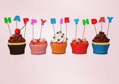 Happy Birthday Cupcakes... #cupcake #cupcakes #c4d #cinema4d #3d #rendering #fotolia #adobestock #cake #happybirthday #sweet by alexander_limbach