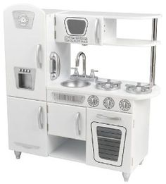 vintage-styled play kitchen $129