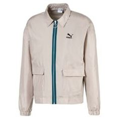 Jacket woven lightweight for men  Dove  PUMA Trending Now  PUMA France Puma, Zip Puller, Dove Men, 1 Logo, Men's Jacket, Trending Now, Adidas Jacket, Motorcycle Jacket, Short Dresses