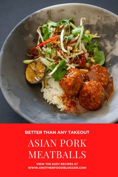 This Asian pork meatballs dish is a FIRM family favourite. I'm sure once you see how easy they are to make you & your family will feel similar #meatballs #porkmeatballs #asianmeatballs #asianporkmeatballs #beansproutsalad @another_food_blogger Asian Meatballs, Pork Meatballs, Asian Pork Meatball Recipe, Meatball Recipes, Bean Sprout Salad, Asian Stir Fry, Fancy Dishes, Pork Mince, Easy Meals